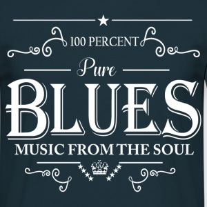 100 Percent Pure Blues Music From The Soul T-Shirts - Men's T-Shirt