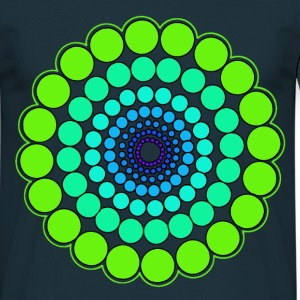 Green Spectrum Mandala - Men's T-Shirt