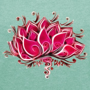 Lotus, Lotusblossom, Lotusflower, Flower, Yoga, OM - Women's T-shirt with rolled up sleeves