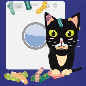 Cat with washing machine Shirts - Teenage Premium T-Shirt