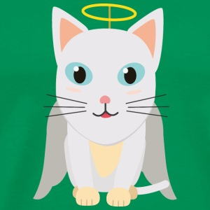 Cat Christmas Angel T-Shirts - Men's Premium T-Shirt