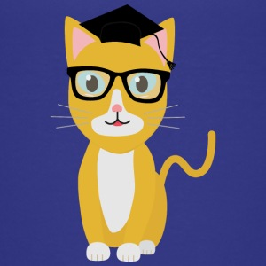 Nerd Santiago cat Shirts - Teenage Premium T-Shirt