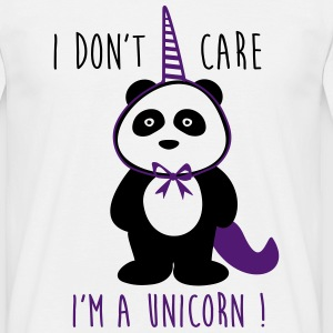 T-shirt Sprüche I don't care i'm a unicorn - Männer T-Shirt