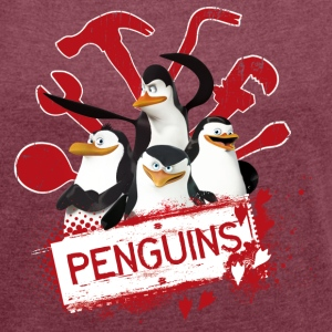 Penguins Group - Women's T-shirt with rolled up sleeves