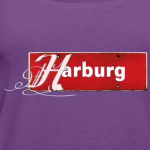 Top: Harburg-Schild mit Schmuckinitial - Frauen Premium Tank Top