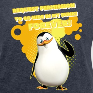 Penguins 'Private' - Women's T-shirt with rolled up sleeves