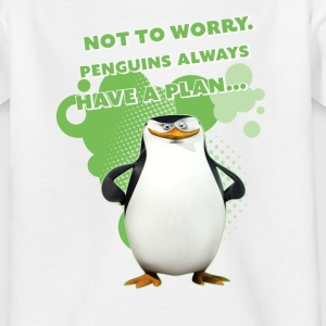 Penguins 'Skipper' - Teenage T-shirt