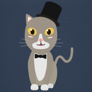 Gentleman cylinder cat Shirts - Teenage Premium T-Shirt