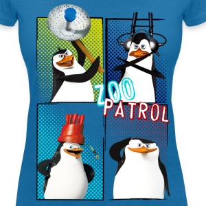 Penguins 'Zoo Patrol' - Women's V-Neck T-Shirt
