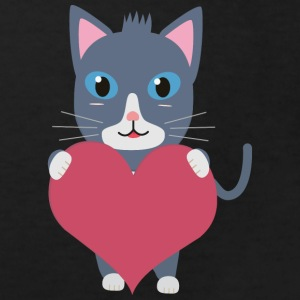 Romantic cat with heart Shirts - Kids' Organic T-shirt
