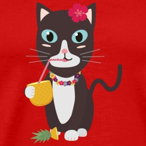 Hawaii cat with pineapple T-Shirts - Men's Premium T-Shirt