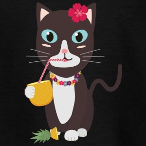 Hawaii cat with pineapple Shirts - Kids' T-Shirt