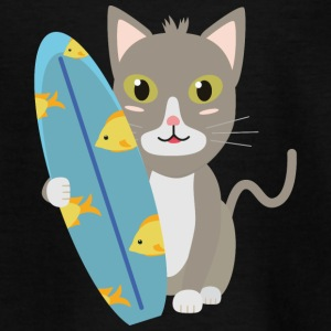 Cat with surfboard Shirts - Kids' T-Shirt