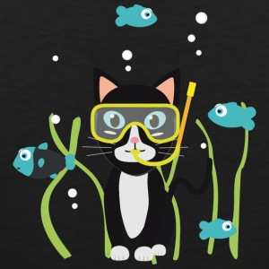 Underwater diving cat with fish Sports wear - Men's Premium Tank Top