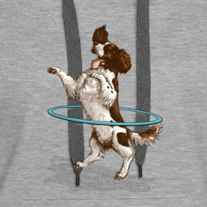Spaniel Hula Sweat-shirts - Sweat-shirt à capuche Premium pour femmes