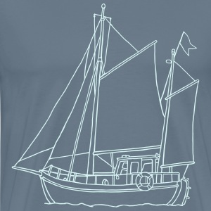 SEGELBOOT (reflect) - Männer Premium T-Shirt
