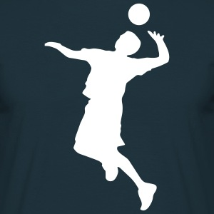 Volley Sillhouette T-shirts - Mannen T-shirt