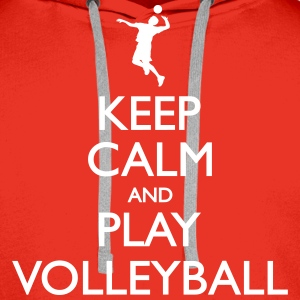 Keep Calm play Volleyball Sweat-shirts - Sweat-shirt à capuche Premium pour hommes