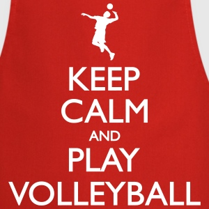 Keep Calm play Volleyball  Aprons - Cooking Apron