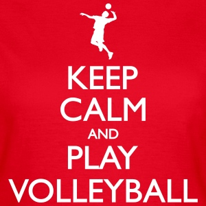 Keep calm and play volleyball hoodie - Frauen T-Shirt