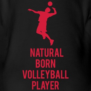 Natural born Volleyballer Bodys Bébés - Body bébé bio manches courtes