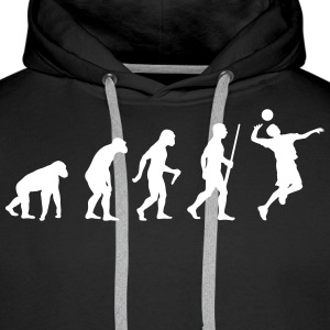Volleyballer Evolution Sweat-shirts - Sweat-shirt à capuche Premium pour hommes