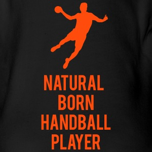 Natural born handballer Baby Bodysuits - Organic Short-sleeved Baby Bodysuit