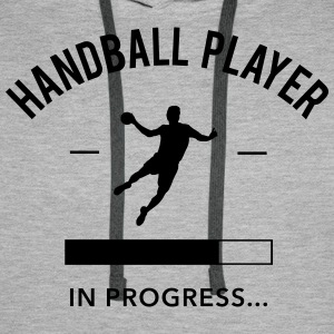 Handball player loading Sweat-shirts - Sweat-shirt à capuche Premium pour hommes