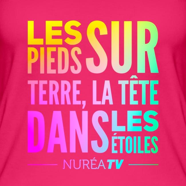 "Débardeur Bio Femme Nuréa TV ""Terre & Étoiles"" - Rainbow"