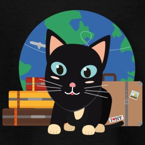 World Travel cat with suitcases Shirts - Kids' T-Shirt