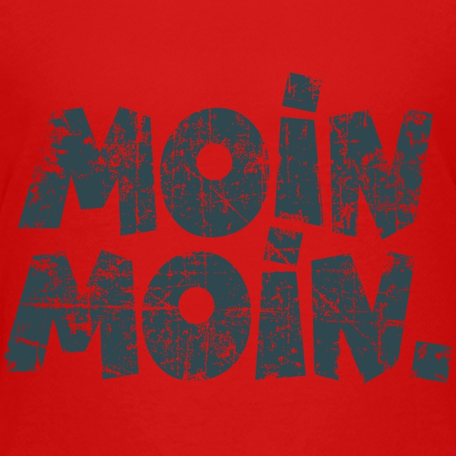 Moin Moin. (Vintage Blau) Teenager T-Shirt