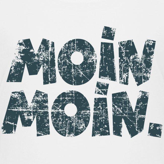 Moin Moin. (Vintage Blau) Kinder T-Shirt