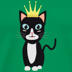 Cat with Crown T-Shirts - Men's Premium T-Shirt
