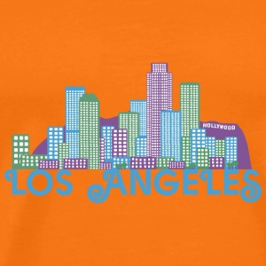 Los Angeles Skyline T-shirts - Mannen Premium T-shirt