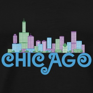 Chicago Skyline T-shirts - Herre premium T-shirt