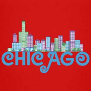 Chicago Skyline T-shirts - Premium-T-shirt barn