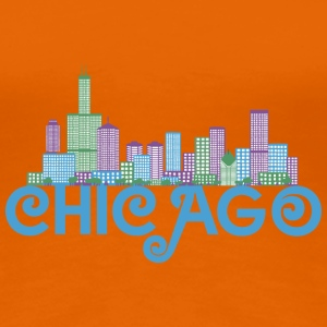 Chicago Skyline T-shirts - Vrouwen Premium T-shirt