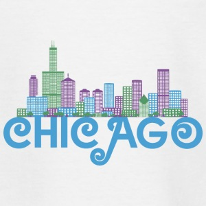 Chicago Skyline Camisetas - Camiseta adolescente