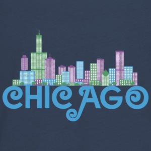 Chicago Skyline Manga larga - Camiseta de manga larga premium adolescente