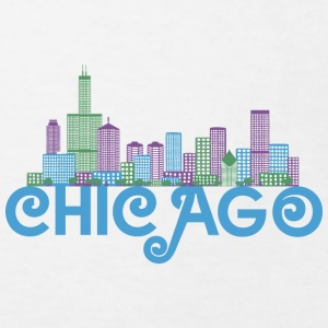 Chicago Skyline Shirts - Kinderen Bio-T-shirt