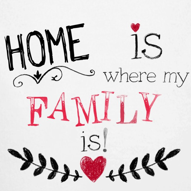 Shabbyflair Baby Langarm Body Home Is Where My Family Is Baby