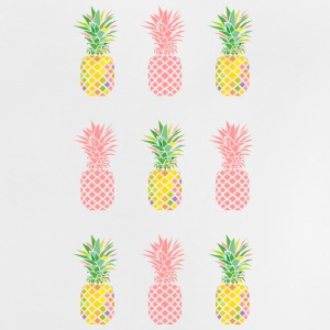 AD Pineapple Pattern Colour Babytröjor - Baby-T-shirt