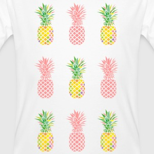 AD Pineapple Pattern Colour T-shirts - Mannen Bio-T-shirt