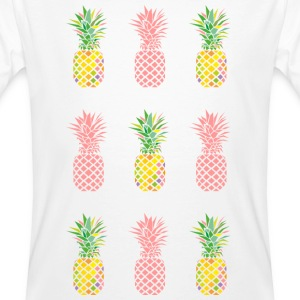AD Pineapple Pattern Colour Tee shirts - T-shirt bio Homme