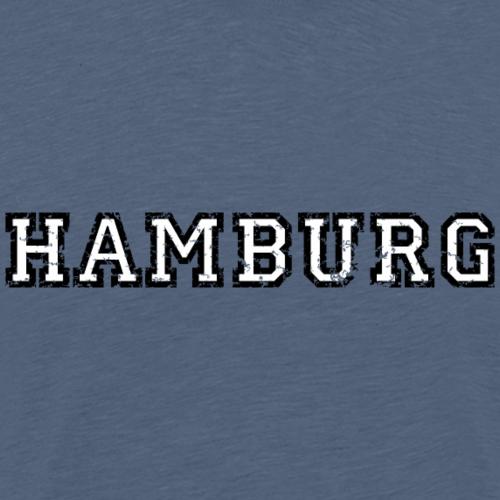 Hamburg zweifarbig Used Look Weiß
