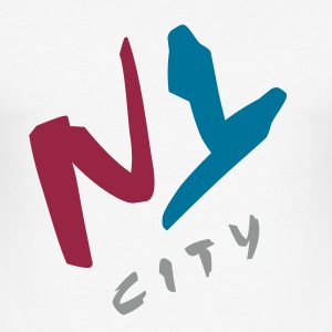 n_y_city_vec_3 T-Shirts - Men's Slim Fit T-Shirt