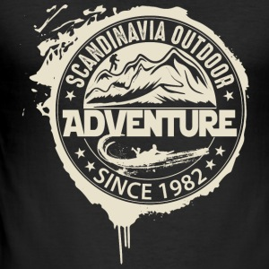 Adventure Outdoor Scandinavia - Männer Slim Fit T-Shirt