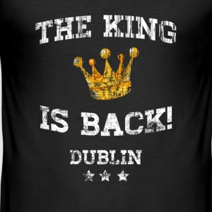 The King is Back! - Men's Slim Fit T-Shirt