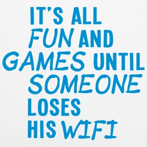 it's all fun and games until... wifi ii 1c Andet - Pudebetræk 40 x 40 cm