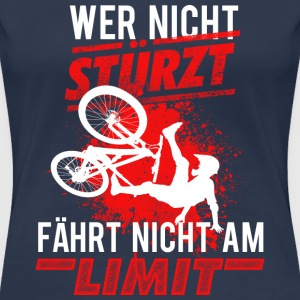 Mountainbike MTB Downhill - Frauen Premium T-Shirt